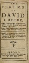 Ireland.- Bible (English) The Psalms of David in Metre, 1735; and 3 other (4).