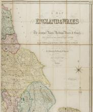British Isles.- Lewis (Samuel) A Map of England and Wales, Divided into Counties, Parliamentary Divisions, & Dioceses, presented in four sections, 1840, (4).
