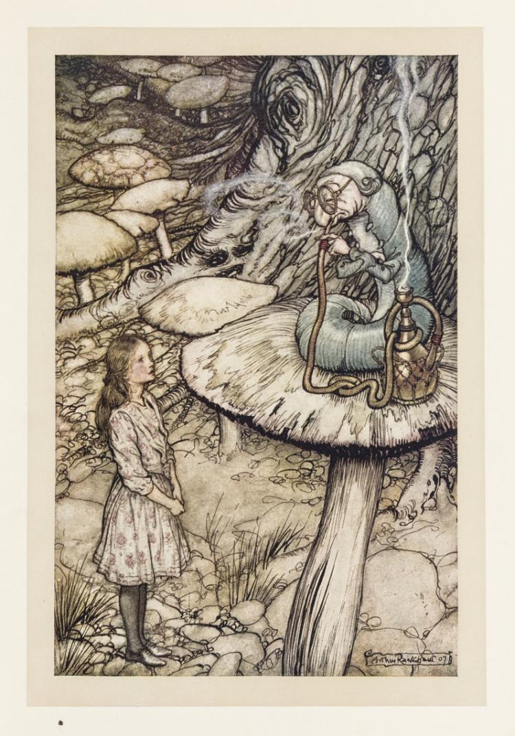 Алиса в стране чудес открытки с историей