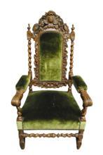 Tom Glavine's Antique Throne Chair 1