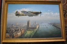 John Young WW2 Aviation Original Oil
