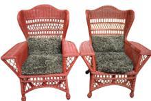 Tom Glavine's Red Wicker Chairs