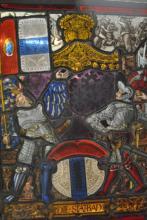 Tom Glavines Antique Leaded Glass Panel 6