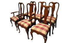6 Penn House Queen Anne Dining Chairs