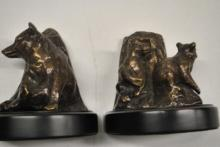 Bronze Bear Sculpture Bookends