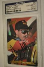1993 Davey Allison SIGNED Nascar Card