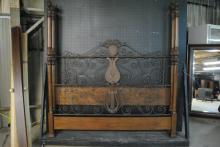 Drexel King Size Lyre Poster Bed