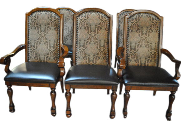 6 Havertys High Back Dining Chairs