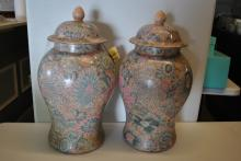 Fine Asian Porcelain Tempe Vases