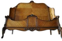 Queen Size French Louis XV Mahogany Bed