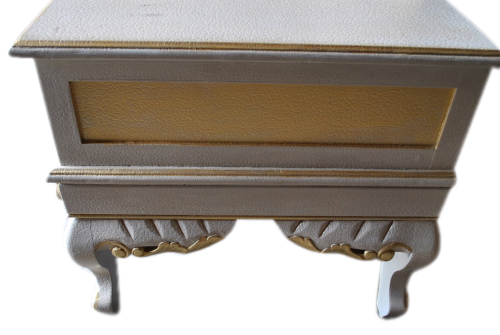 French Rhinestone Chaise Bench