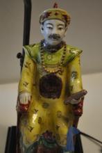 Fine Vintage Porcelain Chinese Man Lamp
