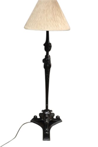 Antique mahogany carved floor lamp 63 hi for Antique mahogany floor lamp