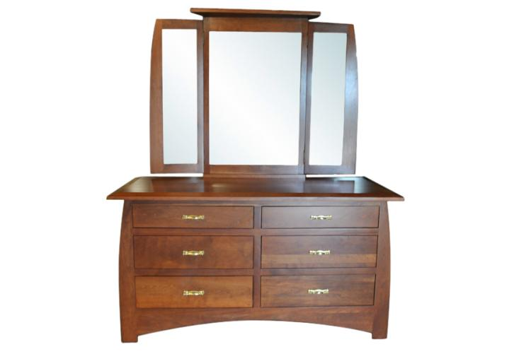 Amish Cherry Dresser Mirror