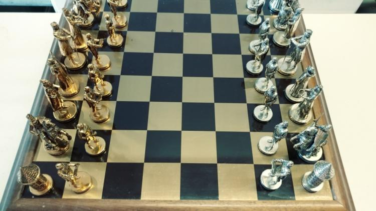 Chess Set Tournament At Camelot Franklin Mint