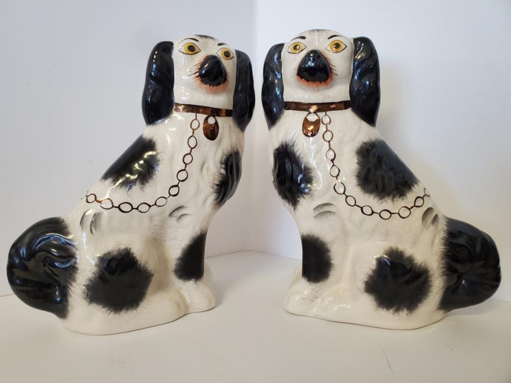 Antique Porcelain Staffordshire Dogs