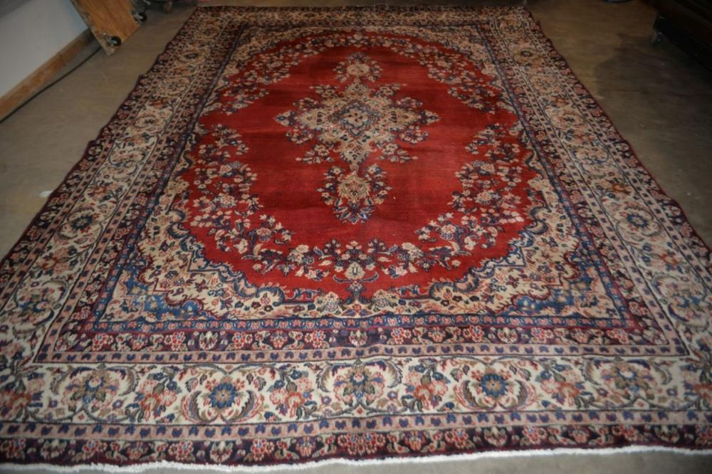 Sarouk Hand Knotted Rug 8.6 x 11.10 ft