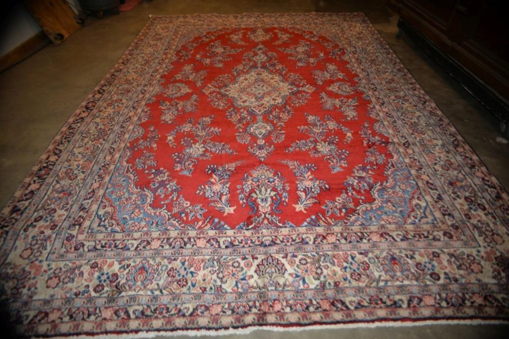 Sarouk Hand Knotted Rug 8.9 x 12 ft
