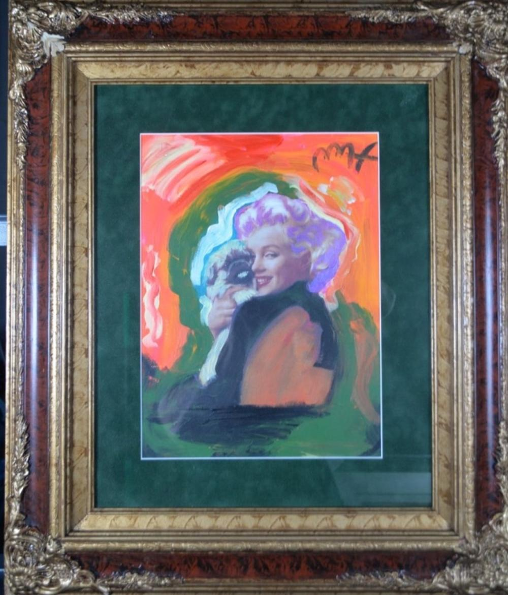 In the Manner of Peter Max Original Marilyn