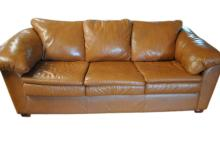 Buttery Soft Leather Center Sofa