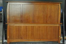 Amish King Size Cherry panel Bed 62