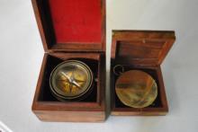 2- Antique Compasses