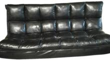 Man Cave Black Leather Futon