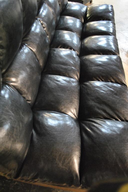Man Cave Futon : Man cave black leather futon