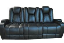 Theatre Room Leather Recliner Sofa