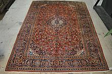 Persian Ardekan Rug, Hand Knotted 8.8 x 12.1
