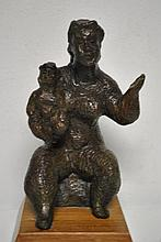 Chiam Gross Bronze. Mother Frolicking with Child