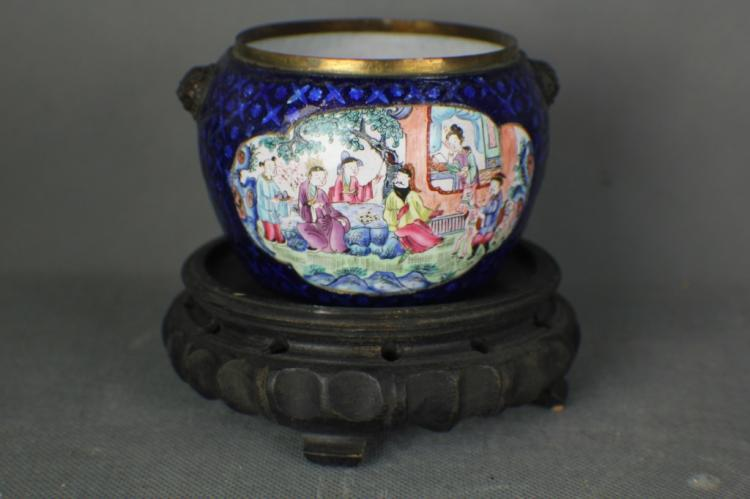 Chinese Enamel Bowl ,Middle of Qing dynasty