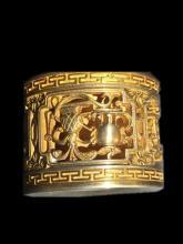 Qing Chinese Gilt Bronze Thumb Ring