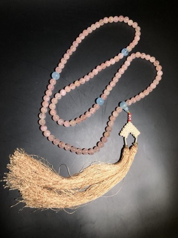Qing Dynasty Chinese Pink Tourmaline Necklace