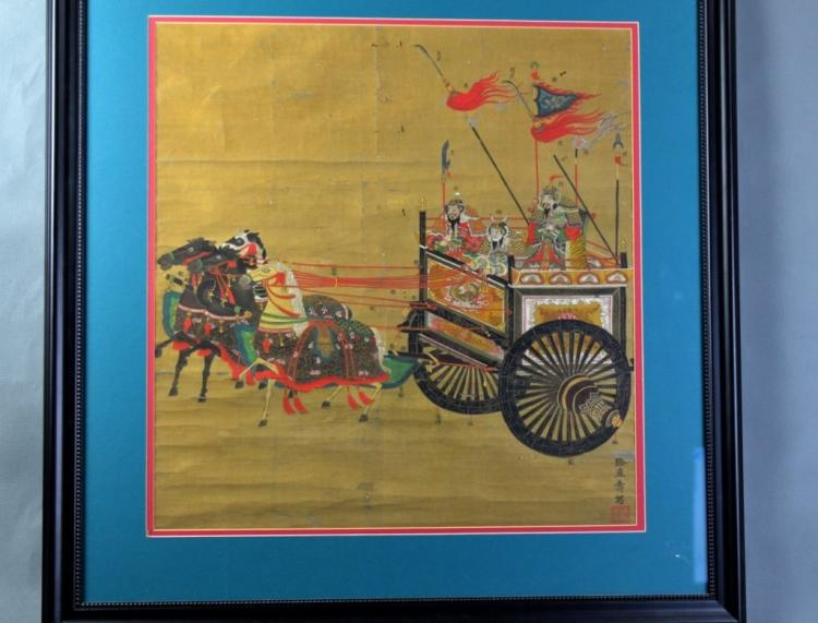 Japanese Antique Painting w Frame