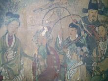 A Large Chinese Qing Dynasty Painting
