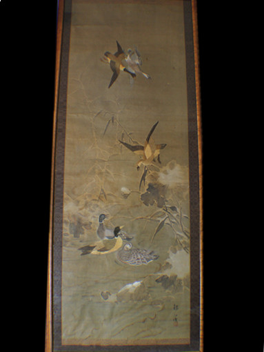 Japanese antique Embroidery Painting