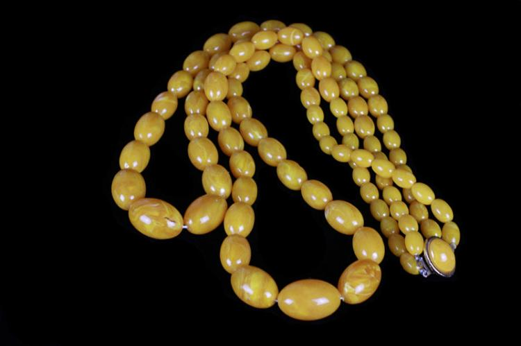 CH Yellow Beads Necklace