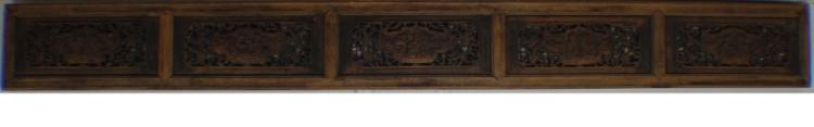 A Qing Dynasty Wood carving Plaque
