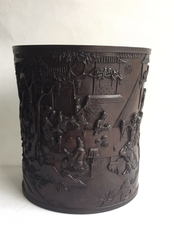 Chinese Zitan Wood Brushpot