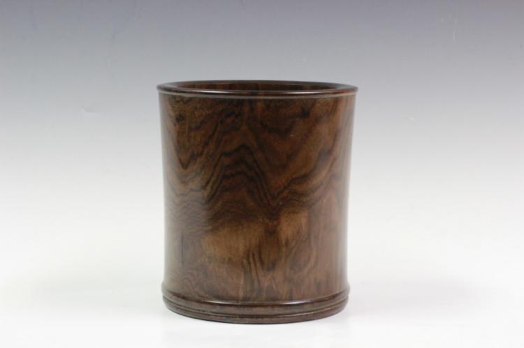 Chinese Huanghuali Wood Brushpot