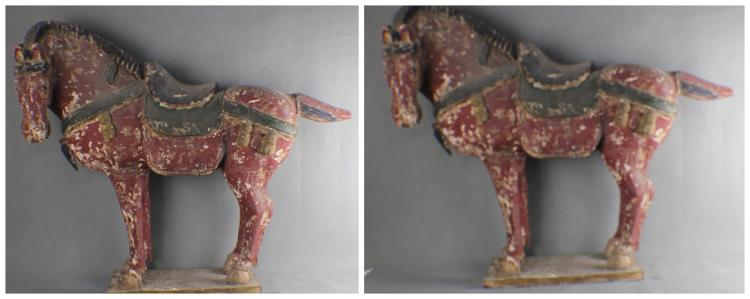 A Pair of Chinese Tang Style Wood Horse