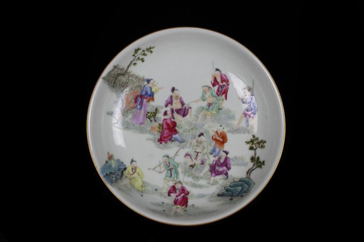 Chinese Famille Rose Plate,