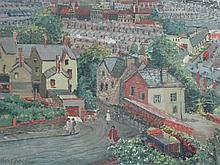 IRENE BACHE, (born 1901, Head of Art, Swansea College of Education), 'View over Uplands and the City