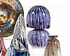 Jean-Claude NOVARRO (1943-2014) Lampe Méduse en verre à décor ble, Jean-Claude Novarro, €0