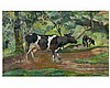 Georges MANZANA - PISSARRO (1871-1961) Vaches sur le chemin. Huil, Georges Pissarro, €0