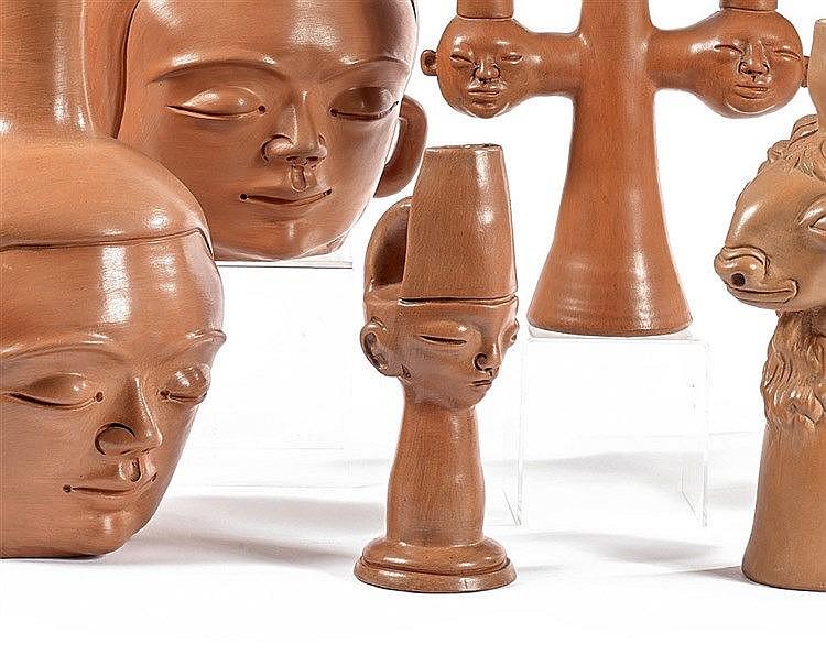 Jean MARAIS (1913-1998) Le petit prince d'Egypte, vase sculpture