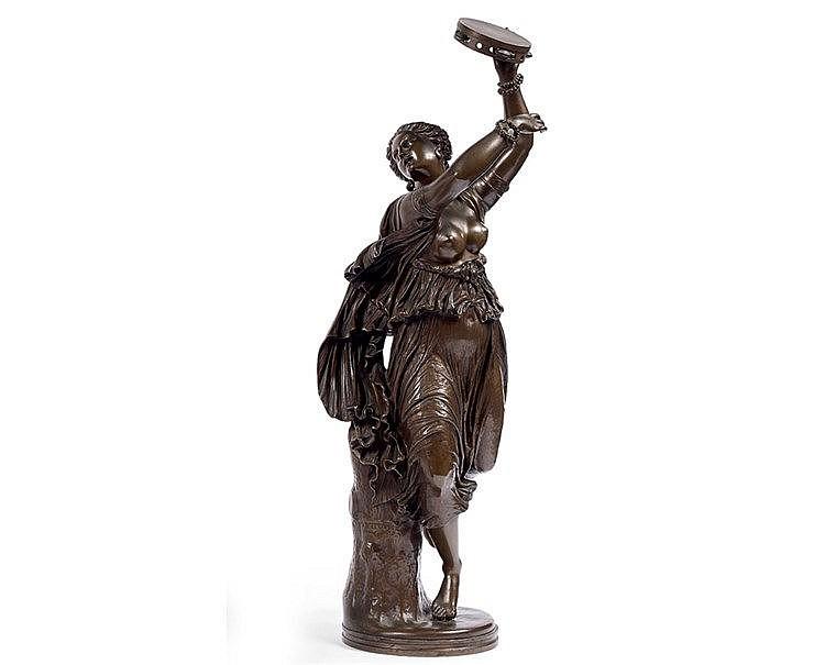Jean-Baptiste Auguste CLESINGER (1814-1883).  La danseuse au tamb
