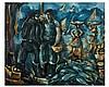 Edouard PISANO (1912-1986) Port animé. Huile sur toile, signée en, Edouardo Pisano, €0