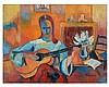 Roger LIMOUSE (1894-1989) Joueuse de guitare. Huile sur toile, si, Roger Marcel Limouse, €0